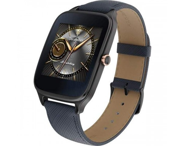 ASUS ZenWatch 2 WI501Q With Dark Blue Leather Strap SmartWatch