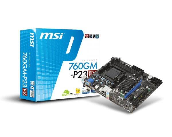 +MotherBoard MSI 760GM-P23 AMD-AM3