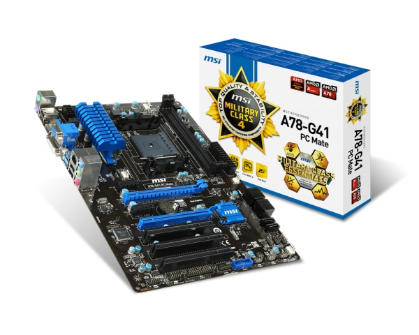 +MotherBoard MSI A78-G41 PC Mate AMD-FM2